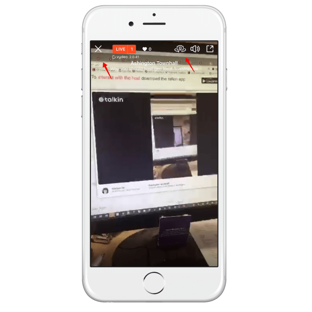 How to use the mobile live stream app Talkin for geo targetted conversations