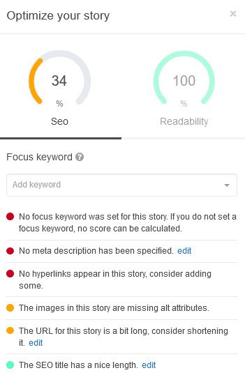 Reasons to use StoryChief to craft your content marketing you can optimise your content for SEO https://www.krishna.me/StoryChief