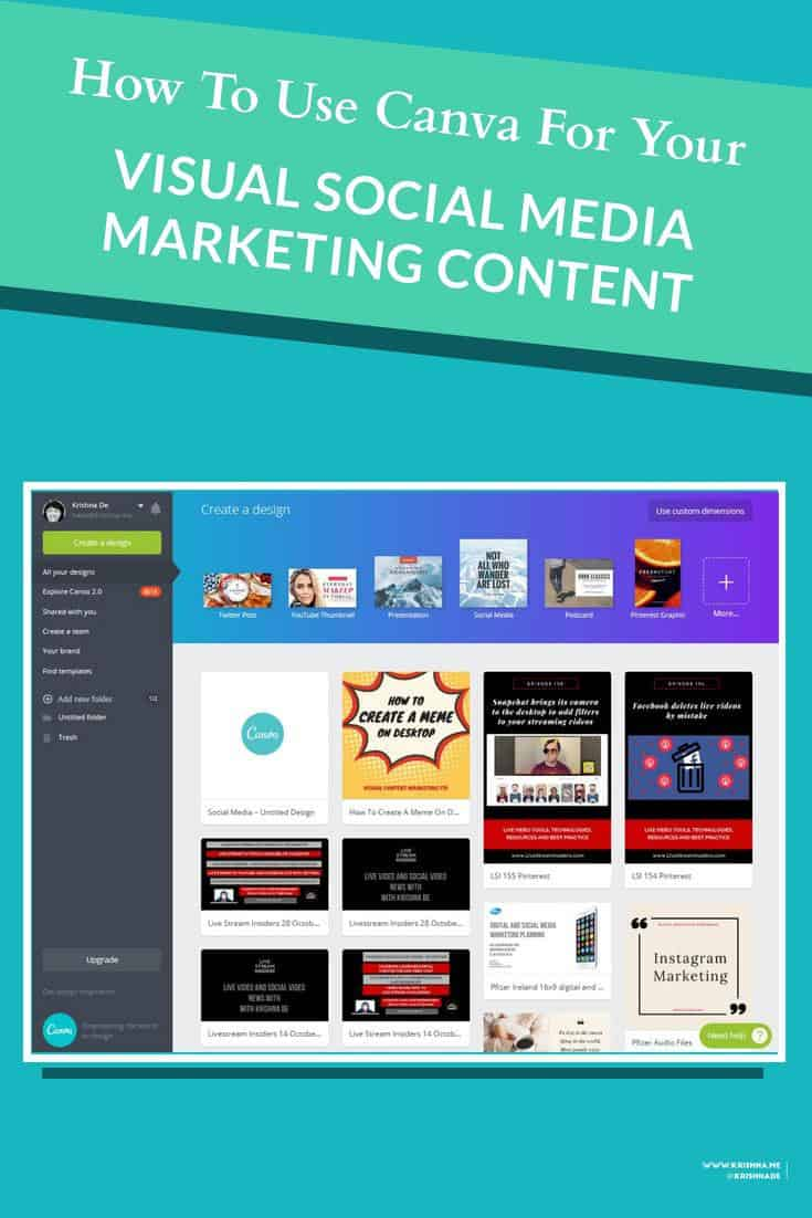 How to use Canva on desktop to create engaging visual content for your social media marketing or internal communications campaigns