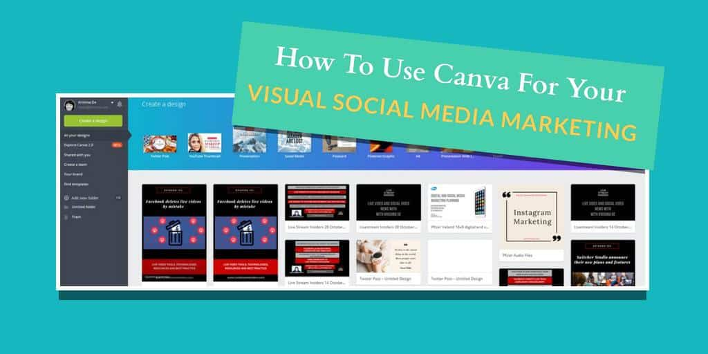 How to use Canva on desktop for your visual social media marketing