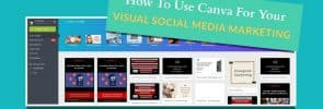Tutorial how to use Canva on desktop for your visual social media marketing