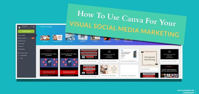 How to use Canva v1 on desktop for your visual social media marketing