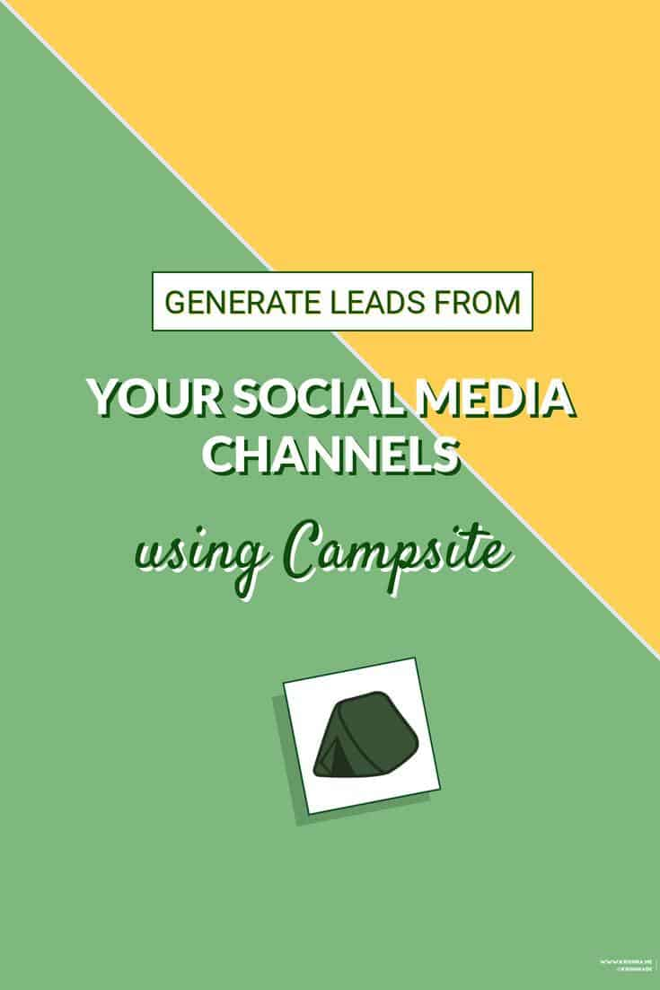 Generate more leads and sales from your social media channels including Instagram using the Campsite app on desktop #InstagramMarketing #InstagramBio #socialselling #digitalmarketing #socialmediamarkeitng